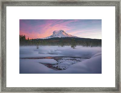 Mt. Hood Winter Sunrise Framed Print