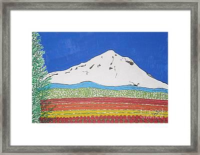 Mt Hoods Tulips Framed Print