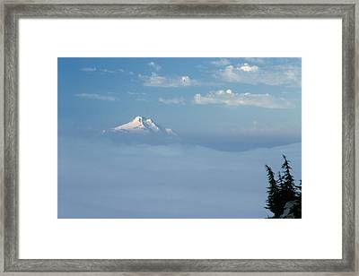 Mt. Jefferson Framed Print by Ken Dietz