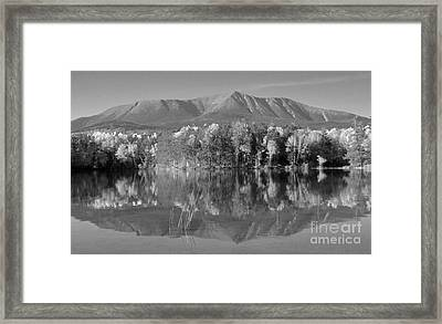Mt Katahdin Baxter State Park Fall Framed Print by Glenn Gordon