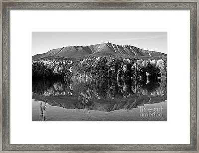 Mt Katahdin Black And White Framed Print by Glenn Gordon