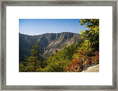 Mt. Katahdin From Hamlin Ridge Framed Print