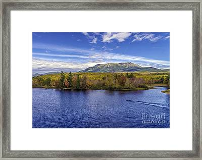 Mt Katahdin Hdr Framed Print by Glenn Gordon