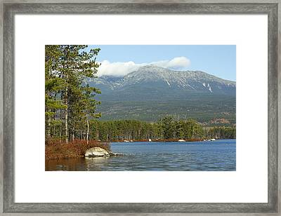 Mt. Katahdin Maine Framed Print