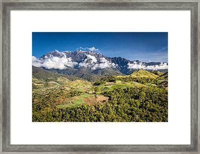 Mt. Kinabalu - The Highest Mountain In Borneo Framed Print by Veronika Polaskova