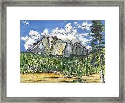 Mt Lassen Framed Print by Terry Banderas