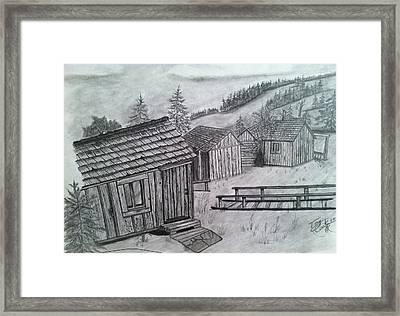 Mt Leconte Cabins Framed Print