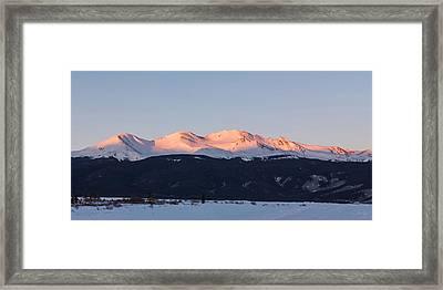 Mt. Massive Framed Print