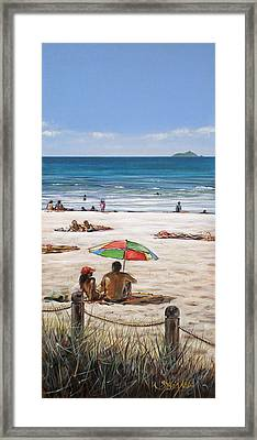 Mt Maunganui Beach 090209 Framed Print