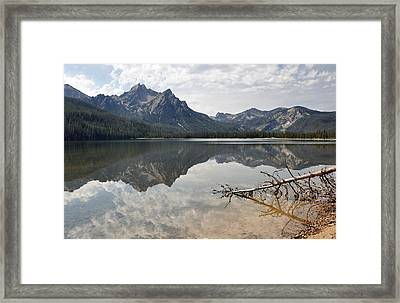Mt. Mcgowan Reflected In Stanley Lake Framed Print