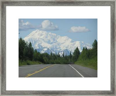 Mt. Mckinley Framed Print by Jewels Blake Hamrick