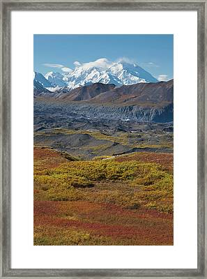 Mt Mckinley, Tallest Peak In North Framed Print by Hugh Rose