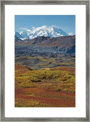 Mt Mckinley, Tallest Peak In North Framed Print