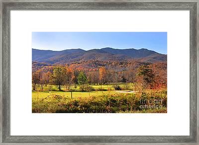 Mt Mitchell Nc Framed Print by Stuart Mcdaniel