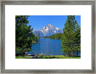 Mt Moran At Half Moon Bay Framed Print
