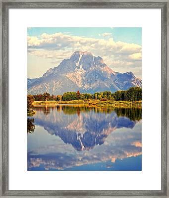 Mt. Moran At Sunrise Framed Print by Marty Koch