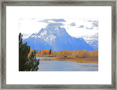 Mt. Moran Majesty Framed Print