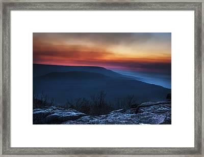 Mt Nebo Arkansas St Sunset Framed Print by Tim Hayes