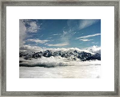 Framed Print featuring the photograph Mt Olympus by Greg Reed
