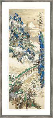 Mt Penglai Mountain Of Immortals Framed Print