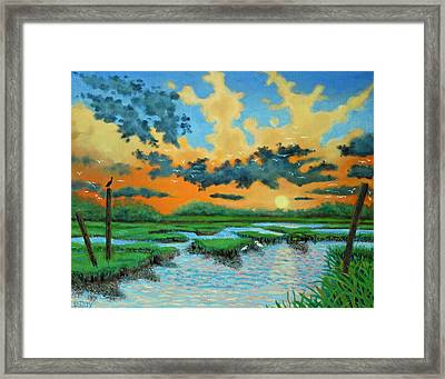Mt. Pleasant Sunset Framed Print