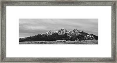 Mt. Princeton Black And White Framed Print by Aaron Spong