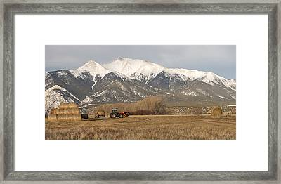 Mt. Princeton Farmer Framed Print by Aaron Spong