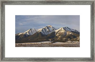 Mt. Princeton Sunrise Framed Print by Aaron Spong
