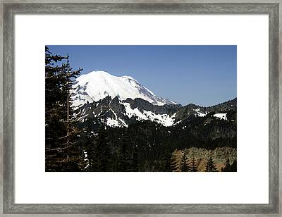 Mt Rainer From Wa-410 Framed Print