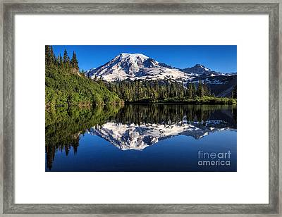 Mt. Rainier From Bench Lake Framed Print