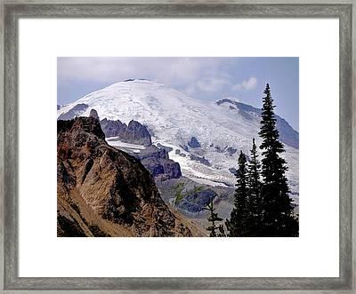 Mt Rainier From Panhandle Gap Framed Print