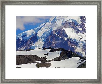 Mt Rainier From Spray Park Framed Print