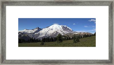 Mt Rainier From Sunrise Park Framed Print