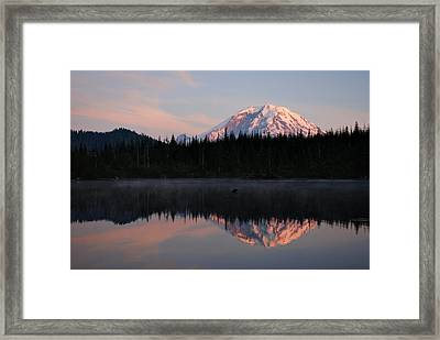 Mt. Rainier From Surprise Lake Framed Print by Kjirsten Collier