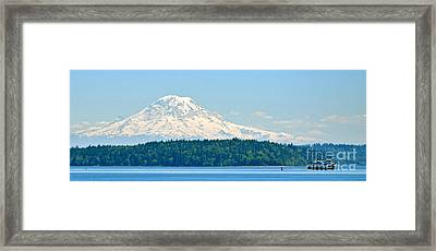 Mt Rainier From The Sound Framed Print