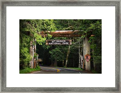 Mt Rainier Gateway Framed Print