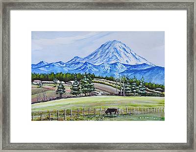 Mt Rainier  Framed Print