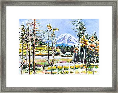 Elk Head On Mt Rainier  Framed Print