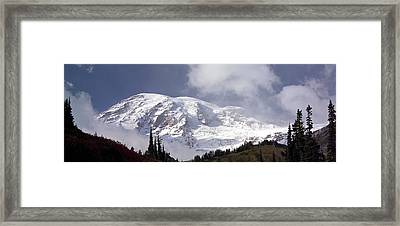 Framed Print featuring the photograph Mt Rainier  by Greg Reed