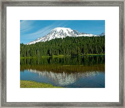 Framed Print featuring the photograph Mt. Rainier II by Tikvah's Hope