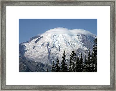 Mt. Rainier In August 2 Framed Print by Chalet Roome-Rigdon