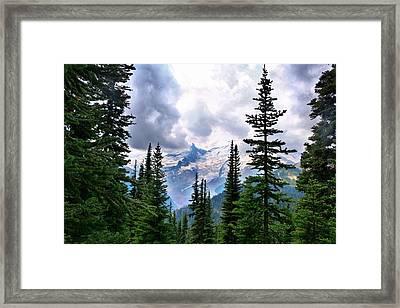 Framed Print featuring the photograph Mt Rainier by Lynn Hopwood
