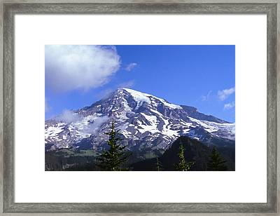 Mt. Rainier Framed Print