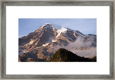 Mt Rainier Sunset Framed Print