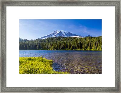 Mt Rainier Viewpoint Framed Print