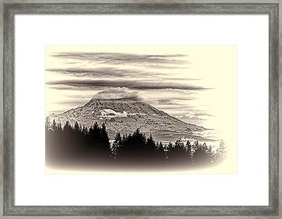 Mt. Rainier Wa In Black And White Framed Print by Ron Roberts