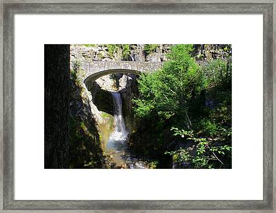 Mt. Rainier Waterfalls Framed Print by Jerry Cahill