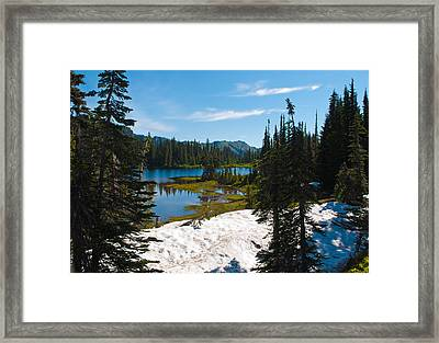 Framed Print featuring the photograph Mt. Rainier Wilderness by Tikvah's Hope