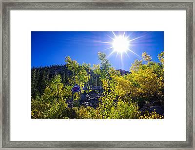 Mt. Rose Fall Color Sunburst Framed Print by Scott McGuire