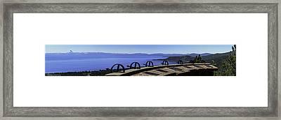 Mt Rose Highway Scenic Overlook Panorama Framed Print by LeeAnn McLaneGoetz McLaneGoetzStudioLLCcom